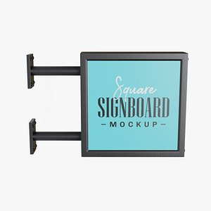 3D square signboard sign