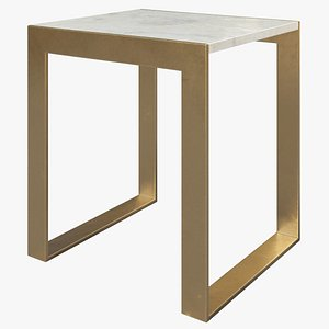 Small Marble Console Table 3D model