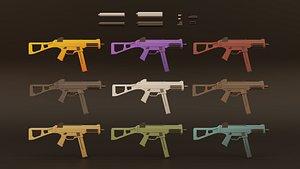 3D gun machine submachine