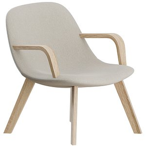 Eyes Lounge Wood base Armchair by Fredericia 3D