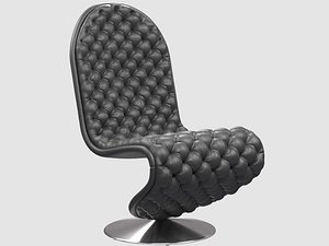 3D panton 1-2-3 deluxe lounge chair