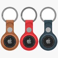 AirTag Leather Key Ring All Colors