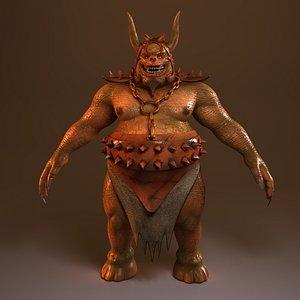 3D creature monster model