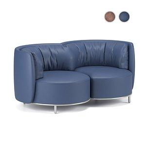 Sofa Wave, Natuzzi Italia 3D model