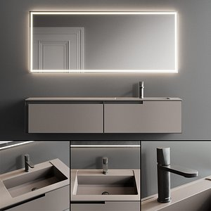 Antonio Lupi Design Atelier Vanity Unit Set 1 3D model
