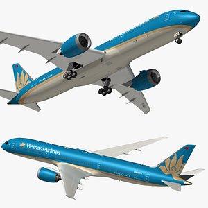 3D boeing 787 vietnam model