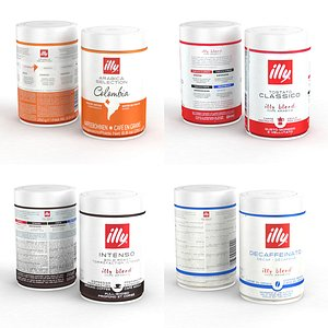 3D Coffe Can Illy 250g 2021 Collection model