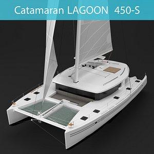 3D lagoon 450-s catamaran model