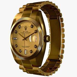 3D model Rolex Day Date Gold