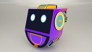 3D Game Character Robot Head