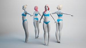 female basemesh base 3D model