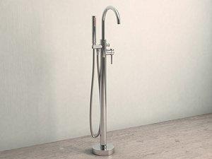 3D floor-mounted tap