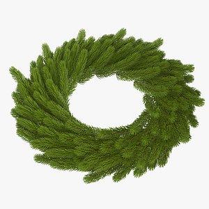 3D model wreath christmas