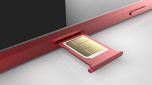 3D smart phone sim model