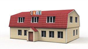 3D Roadside cafe model