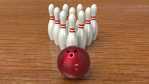 bowling asset 3D model