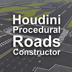Houdini Procedural Roads Constructor 3D model