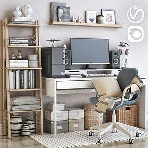 IKEA office workplace 68 3D model