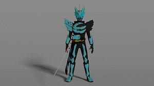 character kamen rider saber primitiv dragon 3D model
