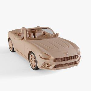 2017 Fiat 124 Spider Abarth 3D model