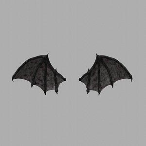 Demon wings - Low poly 3D model