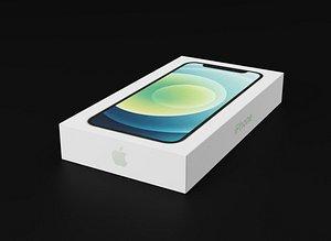 3D apple iphone 12 box model