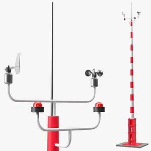 3D wind speed direction sensor
