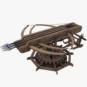 3D Ballista Weapon - Rocket Arrow Launcher
