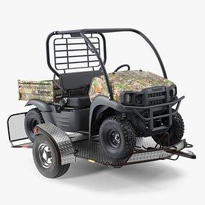 3D ATV Trailer with Kawasaki Mule model