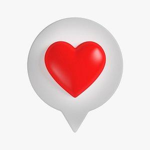 Like Heart 08 3D