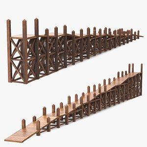 Noah Ark Wooden Ladder 3D model