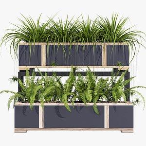 fern flowerpot 3D model