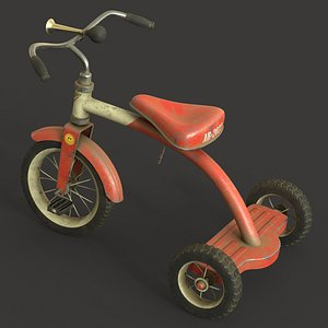 3D Old Tricycle model