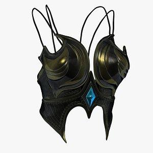 3D model chest lowerchest armor
