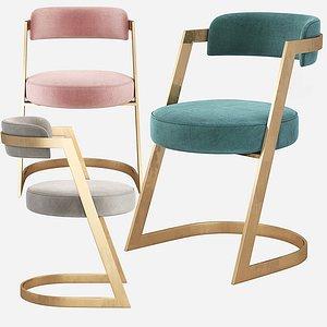 3D kelly wearstler studio dining chair