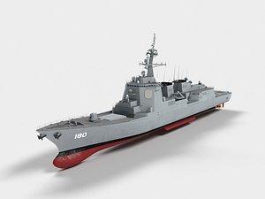DDG-180 Haguro 3D model