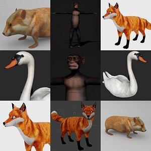 fox mammal 3D model