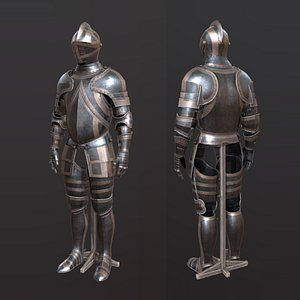 Medieval steel plate armour 3D