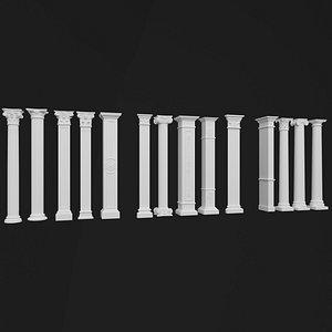 3D decorative column