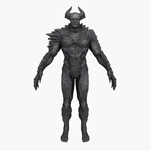3D demon creature