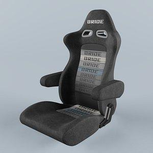 BRIDE EUROSTER II CRUZ Gradation Logo Seat 3D model