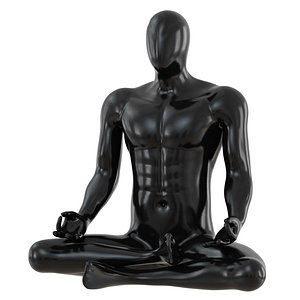 man mannequin yoga 3D model