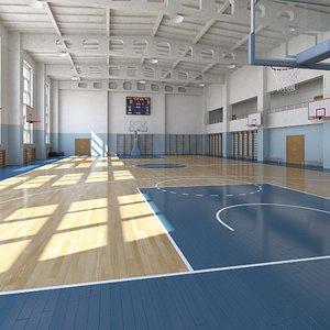 3D ball basketball basket