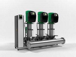 Wilo SiBoost Smart Helix VE5205 pump station model