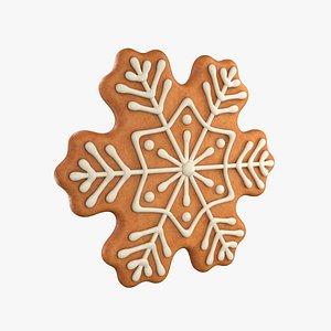 Gingerbread snowflake model