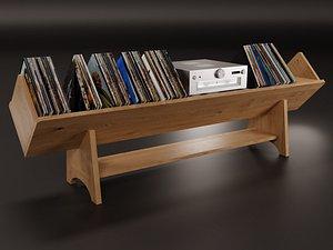 vinyl storage 3D model