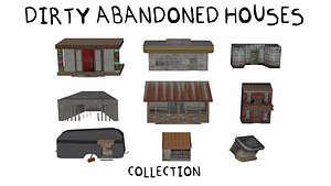 Dirty abandoned houses Collection model