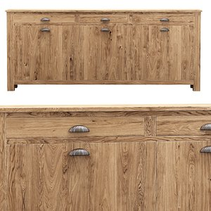 3D model Morgan wooden chest of drawers