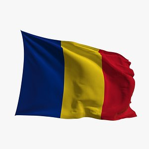 Realistic Animated Flag - Microtexture Rigged - Put your own texture - Def Romania 3D