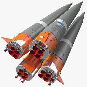 3D Soyuz 2 Rocket Stage 1